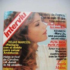 Coleccionismo de Revista Interviú: REVISTA INTERVIÚ NÚMERO 225-1980: ANGELA MOLINA-ROJAS MARCOS-LA NIETA DE FRANCO. Lote 197851973