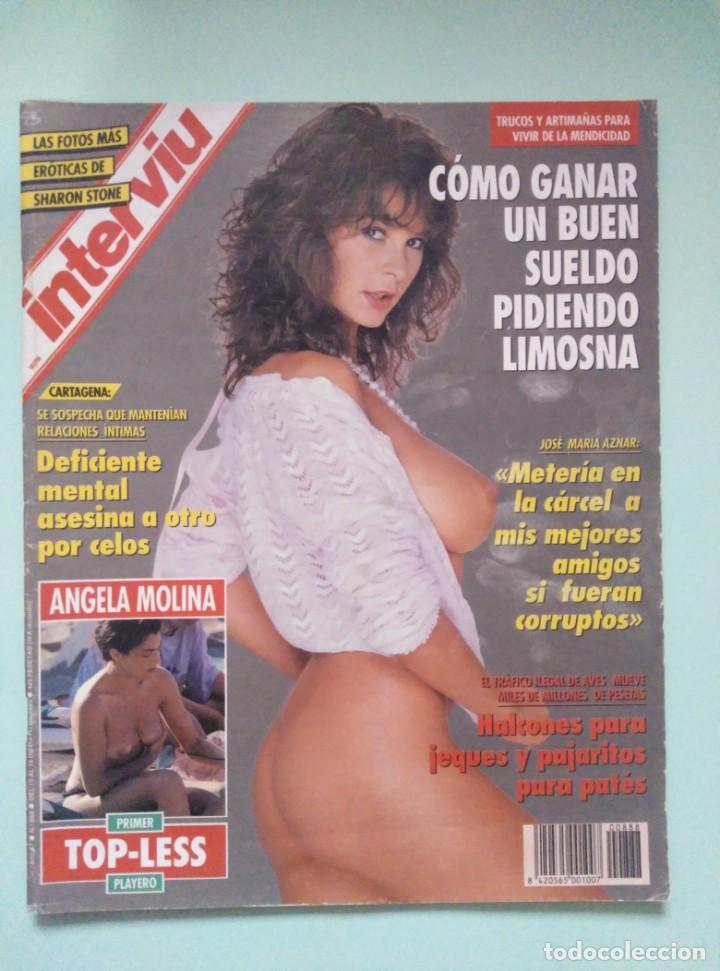 REVISTA INTERVIU Nº 888/1993 - ANGELA MOLINA, SHARON STONE, ESTRELLA ZAPATERO, ETC... (Coleccionismo - Revistas y Periódicos Modernos (a partir de 1.940) - Revista Interviú)