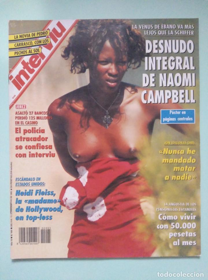 REVISTA INTERVIU Nº 905/1993 - RAQUEL MOSQUERA TOPLESS, NAOMI CAMPBELL, BELINDA WASHINGTON, ETC... (Coleccionismo - Revistas y Periódicos Modernos (a partir de 1.940) - Revista Interviú)