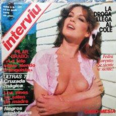 Coleccionismo de Revista Interviú: INTERVIU N° 109. FEDRA LORENTE. ULTRAS 78: LA CRUZADA MÁGICA. . Lote 200554755