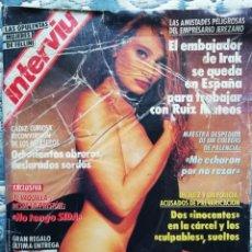 Coleccionismo de Revista Interviú: INTERVIU N° 777. TANIA. EL VAQUILLA. LAS OPULENTA MUJERES DE FELLINI. Lote 200558572