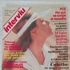Coleccionismo de Revista Interviú: INTERVIÚ AÑO 3, 1978, N° 100 ,MUY BUEN ESTADO. Lote 203165755