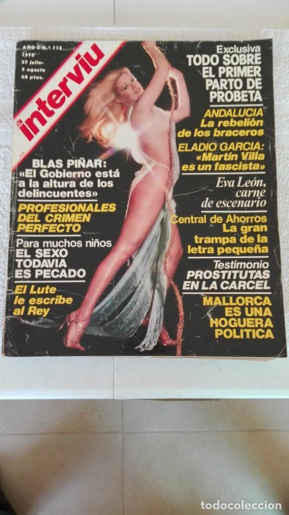 INTERVIÚ AÑO 3, 1978, N° 115, MUY BUEN ESTADO (Coleccionismo - Revistas y Periódicos Modernos (a partir de 1.940) - Revista Interviú)