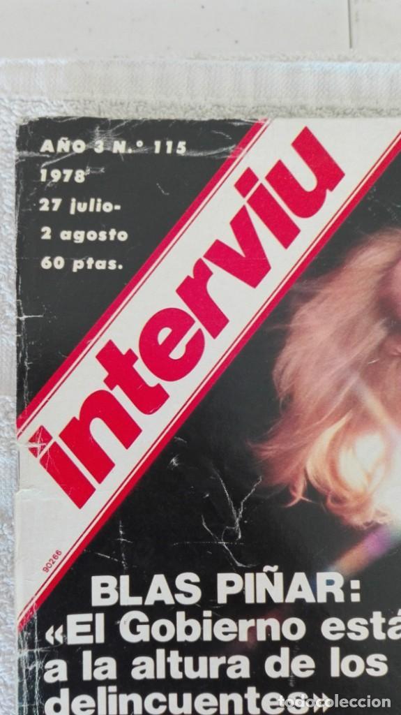 Coleccionismo de Revista Interviú: INTERVIÚ año 3, 1978, n° 115, muy buen estado - Foto 2 - 203165985