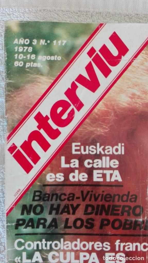 Coleccionismo de Revista Interviú: INTERVIÚ año 3, 1978, n° 117, muy buen estado - Foto 2 - 203166423