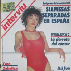 Coleccionismo de Revista Interviú: REVISTA INTERVIÚ Nº 501 1984 NURIA ESPERT, ALBERT BOADELLA, NATI MISTRAL, LAURA DEL SOL, GILA. Lote 204975386