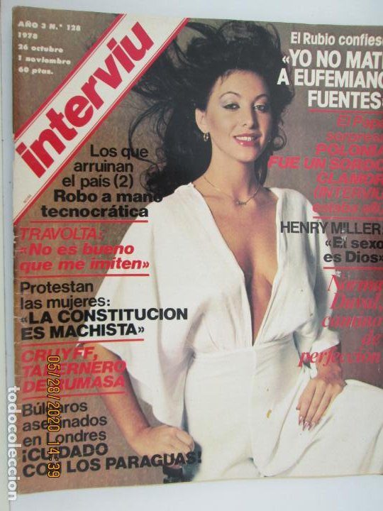 REVISTA INTERVIU Nº 128 - 1978 - NORMA DUVAL, TRAVOLTA, CRUYFF ... (Coleccionismo - Revistas y Periódicos Modernos (a partir de 1.940) - Revista Interviú)