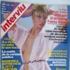 Coleccionismo de Revista Interviú: REVISTA INTERVIU Nº 132 - NOVIEMBRE 1978 - R. CASCANS, NADIUSKA, ARCHIVO DE FUERZA NUEVA .... Lote 206972145