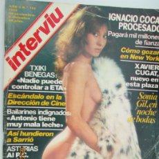 Coleccionismo de Revista Interviú: REVISTA INTERVIU 1978 AÑO 3 Nº 133 - PORTADA SONIA GIL - XAVIER CUGAT - TXIKI BENEGAS. Lote 206973702