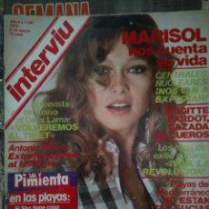 Coleccionismo de Revista Interviú: INTERVIÚ NÚMERO 169 1979 MARISOL NOS CUENTA SU VIDA. Lote 206984831