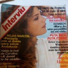 Coleccionismo de Revista Interviú: REVISTA INTERVIU Nº225 1980 ANGELA MOLINA-ORCHIDEA DE SANTIS. Lote 209151251