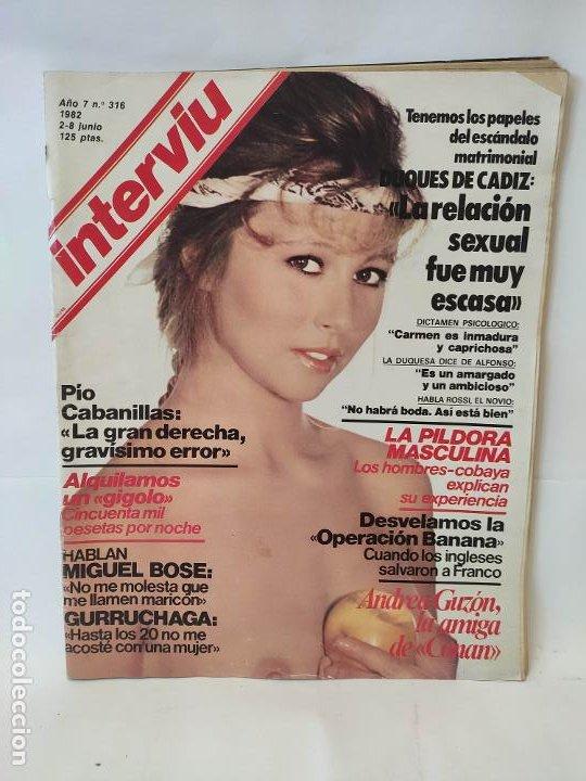 INTERVIU Nº 316 , ANDREA GUZON, MIGUEL BOSE, GURRUCHAGA (Coleccionismo - Revistas y Periódicos Modernos (a partir de 1.940) - Revista Interviú)