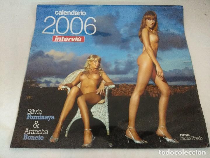 Coleccionismo de Revista Interviú: REVISTA INTERVIU/ARANCHA BONETE Y SILVIA FOMINAYA 2006 CON CALENDARIO/MBE¡¡¡¡¡¡¡. - Foto 2 - 222000842
