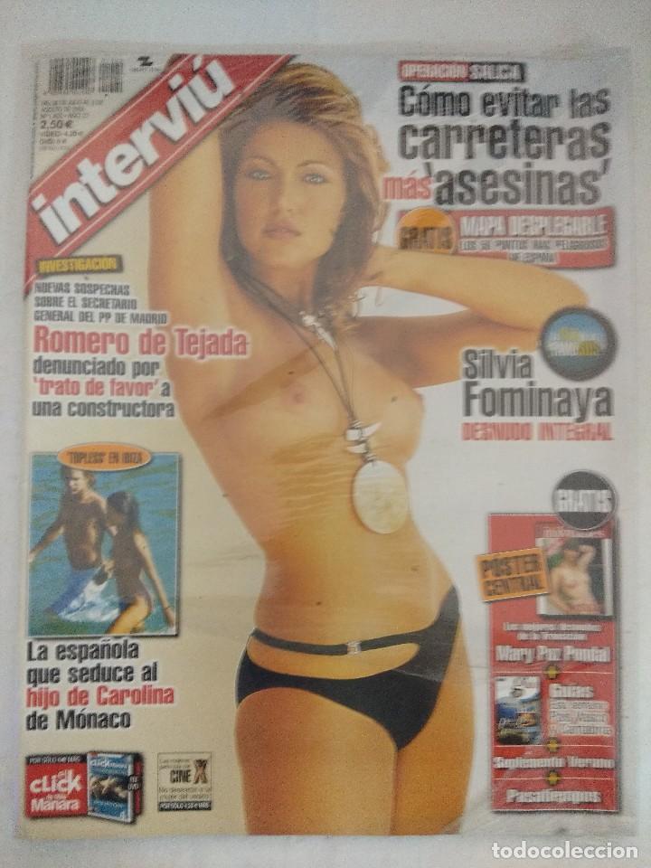 REVISTA INTERVIU/SILVIA FOMINAYA/PRECINTADA¡¡¡¡¡¡¡¡¡¡¡. (Coleccionismo - Revistas y Periódicos Modernos (a partir de 1.940) - Revista Interviú)