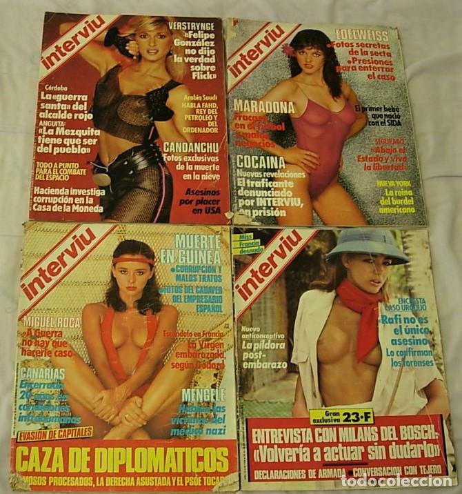 Coleccionismo de Revista Interviú: LOTE 43 Revistas INTERVIU Años 1984-1994 BIBI ANDERSEN CLAUDIA SCHIFFER ANA OBREGON - Foto 3 - 213614386