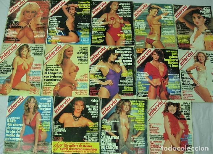 Coleccionismo de Revista Interviú: LOTE 29 Revistas INTERVIU Años 1982-1983 ANGELA MOLINA MARIA ROSARIA OMAGGIO MARIA REY - Foto 2 - 213621048