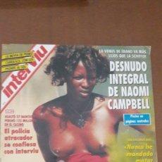 Coleccionismo de Revista Interviú: INTERVIU DESNUDO NAOMI CAMPBELL Y PECHOS DE RAQUEL MOSQUERA 1993. Lote 214185036