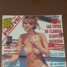 Coleccionismo de Revista Interviú: REVISTA INTERVIU 904-FOTOS DE CLAUDIA SCHIFFER DESNUDA 1993. Lote 214185280