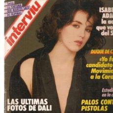 Collectionnisme de Magazine Interviú: INTERVIU. Nº 559. LAS ÚLTIMAS FOTOS DE DALI. 3 FEBRERO 1987.(Z/8). Lote 214338427