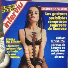 Collectionnisme de Magazine Interviú: REVISTA INTERVIU # 546 ALASKA PILAR MIRO MARGAUX HEMINGWAY TERENCI MOIX PEDRO ALMODOVAR 1986. Lote 214951172