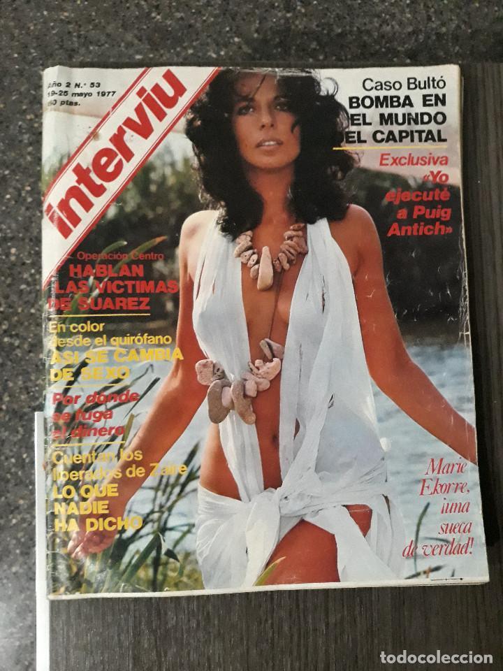 Coleccionismo de Revista Interviú: Lote de 17 revistas interviú del año 2 - Año 1977 - Foto 17 - 216551638