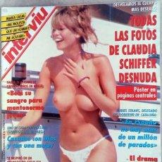 Coleccionismo de Revista Interviú: REVISTA INTERVIU CLAUDIA SCHIFFER. Lote 216627653