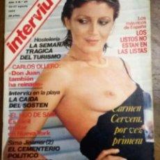 Coleccionismo de Revista Interviú: REVISTA INTERVIU AÑO 2. N.º 67. DEL 25 AL 31 DE AGOSTO 1977. CARMEN CERVERA.. Lote 219047001