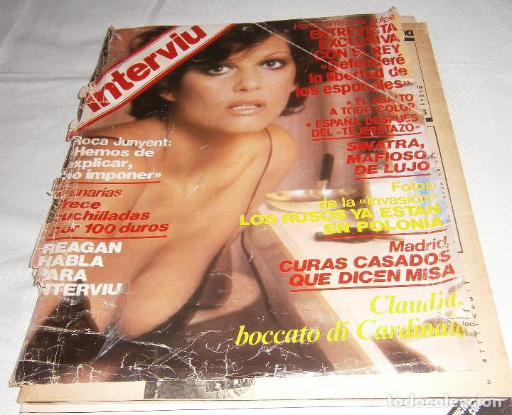 REVISTA INTERVIU AÑO 1981 PORTADA CLAUDIA CARDINALE (Coleccionismo - Revistas y Periódicos Modernos (a partir de 1.940) - Revista Interviú)