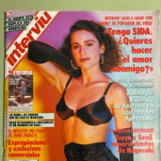 Coleccionismo de Revista Interviú: REVISTA INTERVIU Nº 693 AGOSTO 1989 - VICKY LARRAZ, COLECCIONABLE MARILYN MONROE. Lote 222944121
