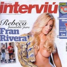Coleccionismo de Revista Interviú: INTERVIU 1793.REBECA DESNUDA.EXHIBICIONISMO.SAN KALIMOTXO.CHICA INTERV 2010.NATALIA OT.MARISA MEDINA. Lote 224208525