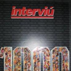 Coleccionismo de Revista Interviú: INTERVIÚ 1000. Lote 225197262