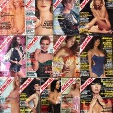 Coleccionismo de Revista Interviú: LOTE 13 REVISTAS INTERVIU 1977 A 1981 - PORTADA FOTOS ADULTOS MUJERES CHICAS TOPLESS. Lote 225636855
