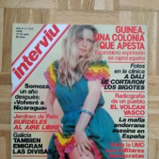 Coleccionismo de Revista Interviú: REVISTA INTERVIU 218. BRIGITTE BARDOT. MIGUEL BOSE. UCD. FRANCO. EUSKADI. URSS. VIETNAM. Lote 227155130