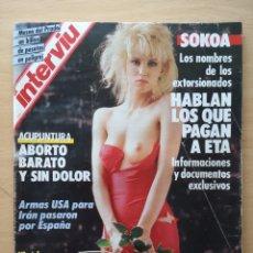 Coleccionismo de Revista Interviú: REVISTA INTERVIU Nº 550 1986 TRINIDAD SEVILLANO, ISABEL PREYSLER. Lote 228430425