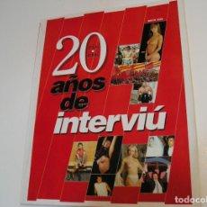 Coleccionismo de Revista Interviú: ESPECIAL INTERVIU 20 AÑOS 1976/ 1996 SABRINA SALERNO SAMANTHA FOX MARILYN MONROE MADONNA BASINGER. Lote 229629085