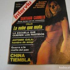Collectionnisme de Magazine Interviú: REVISTA INTERVIU 1976 AÑO 1 N° 13 .SUSANA ESTRADA . CARRILLO .CHINA TIEMBLA . ANTONIO GALA. Lote 229630140