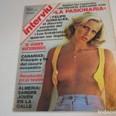 Coleccionismo de Revista Interviú: INTERVIU 1976 AÑO 1 N° 15 .LA PASIONARIA . FELIPE GONZÁLEZ .. Lote 229630555