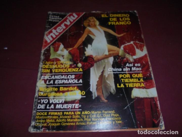 Coleccionismo de Revista Interviú: mangnificas 37 revistas de interviu primeros numeros - Foto 31 - 234664500