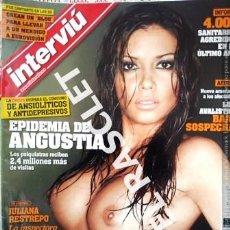 Coleccionismo de Revista Interviú: ANTIGUA REVISTA INTERVIU - Nº 1716 - JULIANA RESTREPO - 16 AL 22 MARZO 2009 -. Lote 234690365