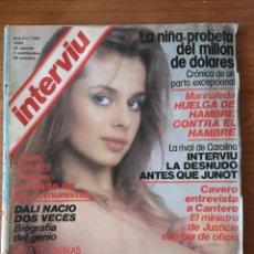 Coleccionismo de Revista Interviú: REVISTA INTERVIÚ Nº 224 1980 SALVADOR DALÍ, NASTASSIA KINSKI, GIANNINA FACIO, OLIVIA MARIVÍ. Lote 236321545