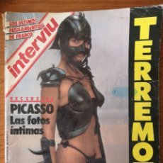 Coleccionismo de Revista Interviú: REVISTA INTERVIÚ Nº 489 1985 CACO SENANTE, MANUEL PIÑERO, ALONSO MILLÁN, PICASSO, LINA MORGAN,. Lote 236326265