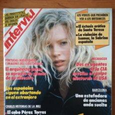 Coleccionismo de Revista Interviú: REVISTA INTERVIÚ Nº 722 1990 KIM BASSINGER, ISAMAR, SABRINA SALERNO, FLAVIA ZARZO, TOMAS TAVEIRA. Lote 236328815