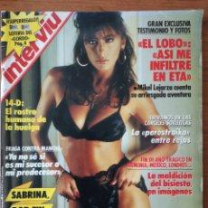 Colecionismo da Revista Interviú: REVISTA INTERVIU N.º 658 1988 SABRINA SALERNO, MIKEL LEJARZA ETA EL LOBO, GLORIA RODRÍGUEZ. Lote 240596770
