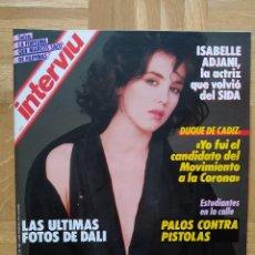 Coleccionismo de Revista Interviú: REVISTA INTERVIU Nº 559. ISABEL ADJANI. SALVADOR DALI. ETA. ANTOÑETE. TOROS. TORERO. Lote 243212105