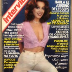 Collectionnisme de Magazine Interviú: INTERVIU N° 147 (1979). ESPERANZA ROY, SUSANA ESTRADA, PINA LÓPEZ, PASOLINI,.... Lote 243433380