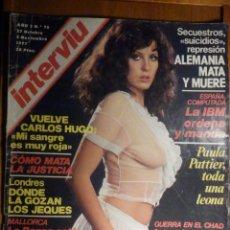Coleccionismo de Revista Interviú: REVISTA INTERVIU Nº 76 - 27 OCTUBRE 1977, PAULA PATTIER, SABADELL LA CAIDA DEL TEXTIL. Lote 244415350