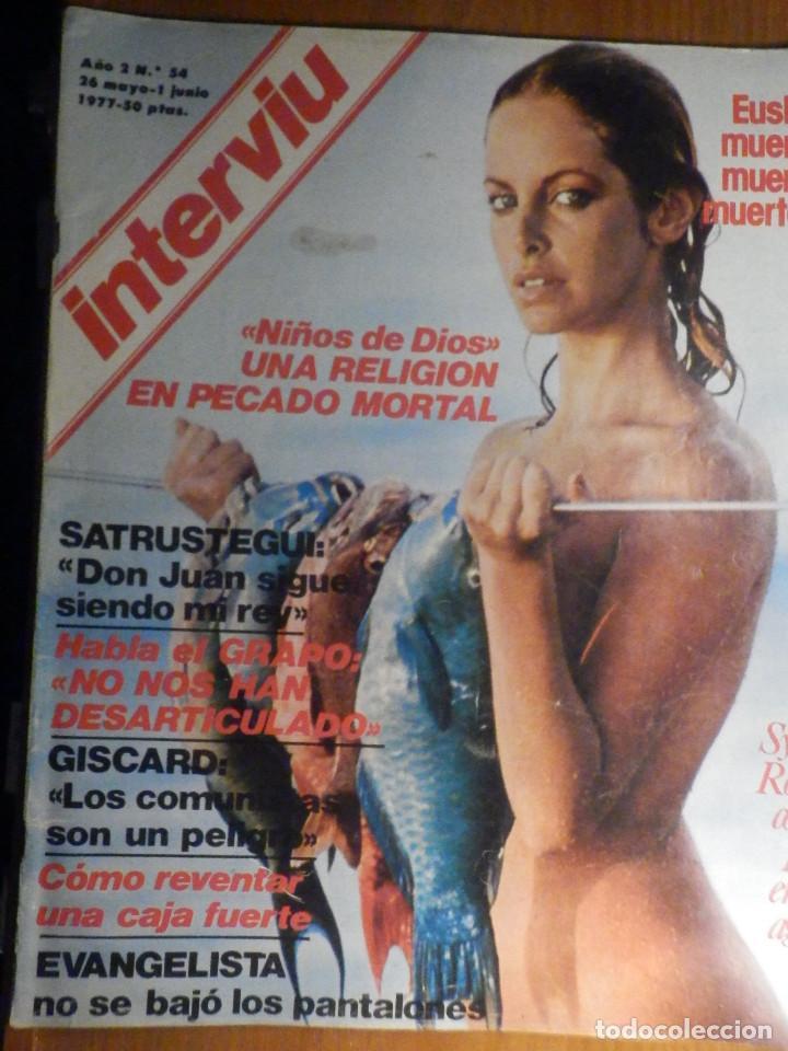 REVISTA INTERVIU Nº 54 - 26 MAYO 1977, SYDNE ROME - EUSKADI - EVANGELISTA - GRAPO - NIÑOS DE DIOS (Coleccionismo - Revistas y Periódicos Modernos (a partir de 1.940) - Revista Interviú)