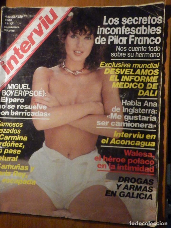 REVISTA INTERVIU Nº 226 - 11 SEPTIEMBRE 1980 - MIGUEL BOYER / CARMINA ORDOÑEZ / PILAR FRANCO (Coleccionismo - Revistas y Periódicos Modernos (a partir de 1.940) - Revista Interviú)