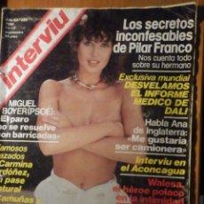Coleccionismo de Revista Interviú: REVISTA INTERVIU Nº 226 - 11 SEPTIEMBRE 1980 - MIGUEL BOYER / CARMINA ORDOÑEZ / PILAR FRANCO. Lote 244429255