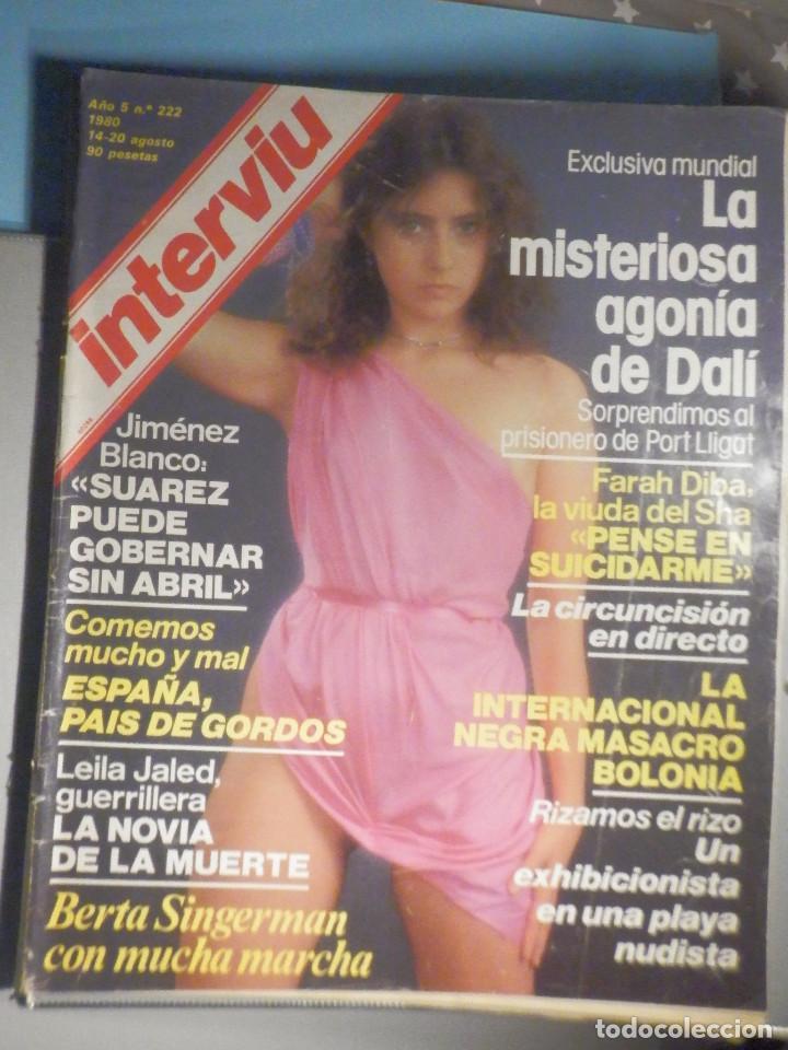 REVISTA INTERVIU Nº 222 - 14 AGOSTO 1980 - BERTA SINGERMAN, CABRE, SALVADOR DALI, BIBI ANDERSEN, (Coleccionismo - Revistas y Periódicos Modernos (a partir de 1.940) - Revista Interviú)